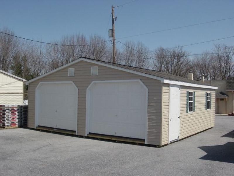 Two Car Garage Installed Barns Carports More: Poconos And Lehigh Valley A-Frame Sheds Mini-Barn Sheds